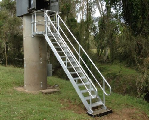 Aluminium access stairs for Dpt. mines and resources