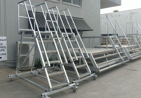 aluminium aircraft access stairs and platforms