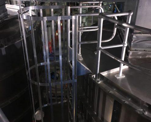 Aluminium access ladders and handrailing – ABB